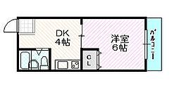 ハイツ京橋[2階]の間取り