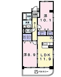レトルダムール[5階]の間取り