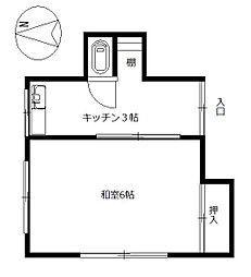 第2戸田荘[202号室]の間取り