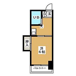カルム箱崎[6階]の間取り