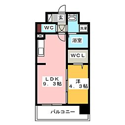 modern palazzo HAKATA riva I[8階]の間取り
