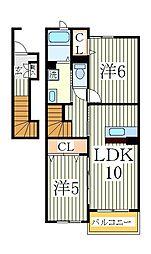 グランドハウスMTIII[2階]の間取り