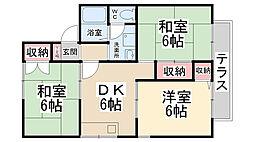シャルマンコート A棟[1階]の間取り