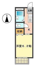 いづみコーポ[2階]の間取り