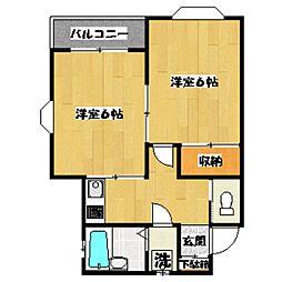 東京都杉並区成田西1丁目の賃貸アパートの間取り