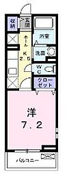広島県福山市久松台1の賃貸アパートの間取り