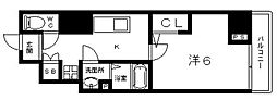 Osaka Metro谷町線 阿倍野駅 徒歩6分の賃貸マンション 10階1Kの間取り