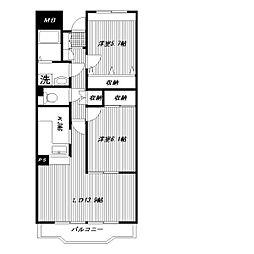 ピュアフィールド新横浜[203号室]の間取り