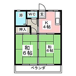 第1黒崎コーポ[2階]の間取り