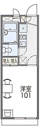 北大阪急行電鉄 桃山台駅 徒歩21分の賃貸アパート 1階1Kの間取り