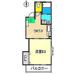 コーポABA[2階]の間取り