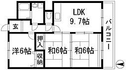 エスパシオカメリア2[4階]の間取り