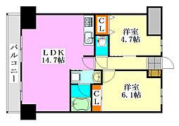 S-FORT船橋塚田[7階]の間取り