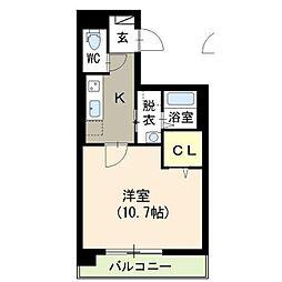 新潟県新潟市中央区東幸町の賃貸マンションの間取り