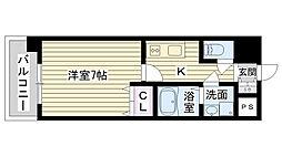 Osaka Metro長堀鶴見緑地線 今福鶴見駅 徒歩1分の賃貸マンション 12階1Kの間取り