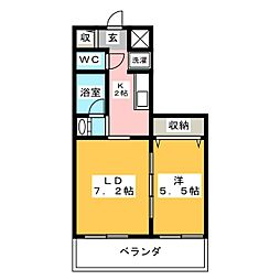 レガーロ北寺島[9階]の間取り