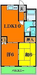 COM'S35 5階2LDKの間取り