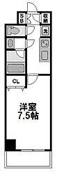 サムティ江坂Vangelo[804号室]の間取り