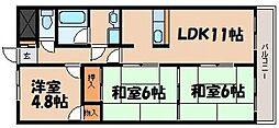 日宝ポニクレール府中[4階]の間取り