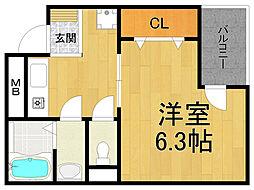 トップシードOKADA[3階]の間取り