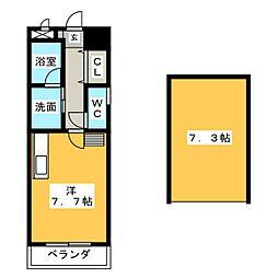 ワイズ東別院[6階]の間取り