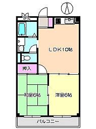 ピレネ園田 103[1階]の間取り