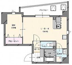 (仮称)博多南駅前新築マンション 5階1LDKの間取り