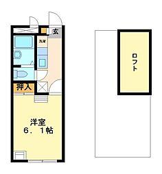 兵庫県神戸市西区竜が岡4丁目の賃貸アパートの間取り