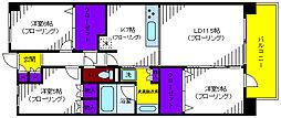 プラウド立川トレサージュ[4階]の間取り