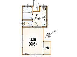 サンライズ高幡[1階]の間取り