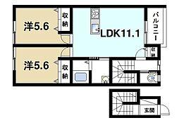 ユニゾン百楽園II[2階]の間取り
