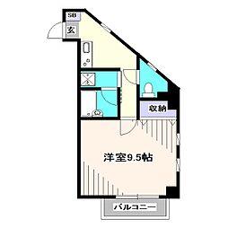 東京都西東京市南町5丁目の賃貸マンションの間取り