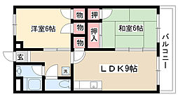 愛知県名古屋市南区北頭町4丁目の賃貸マンションの間取り
