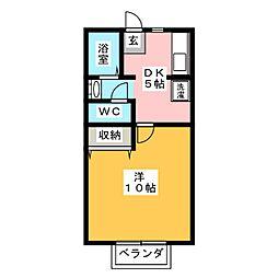 サクランボ荘[2階]の間取り