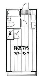 氷川台コーポハセベ[203号室]の間取り