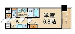 THE GARNET MILLENNIUM KYOTO 九条 5階1Kの間取り