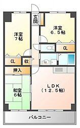 ラフィーネ江坂[5階]の間取り