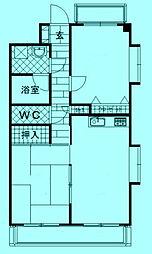 ブローディア[2階]の間取り