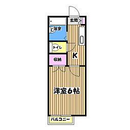 パラシオン田中[2階]の間取り