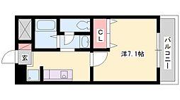プチフォレ[203号室]の間取り