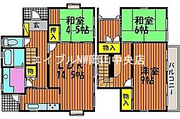 [一戸建] 岡山県岡山市中区湊 の賃貸【/】の間取り