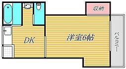 松原コーポ[1階]の間取り