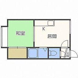 ホワイトパレスキタダII[3階]の間取り