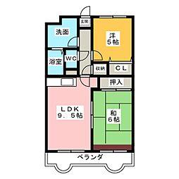 リバーサイド富士 II[2階]の間取り