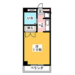 グリーンヒル榊原[3階]の間取り