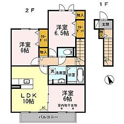 プラムハイム[2階]の間取り