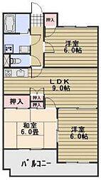 岡山県岡山市北区青江4丁目の賃貸マンションの間取り