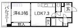 京阪本線 清水五条駅 徒歩5分の賃貸マンション 4階1LDKの間取り