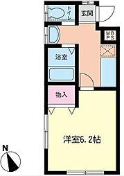 神奈川県横浜市泉区中田南3丁目の賃貸アパートの間取り