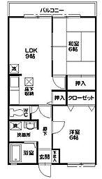 ヴィーブルB棟[1階]の間取り